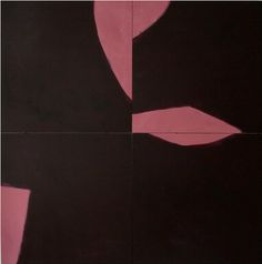 Tobias Wenzel M Untitled (Mauve] 2007 painting on board, 120x120cm