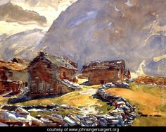 Simplon Pass: Chalets - John Singer Sargent - www.johnsingersargent.org