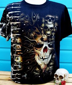 Skull Studded Double Print T-Shirt