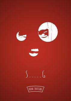 Thinkinvisible - Projeto de posters minimalistas | Criatives | Blog Design, Inspirações, Tutoriais, Web Design