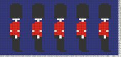 Tricksy Knitter Charts: Queen's Guards by IntertidalGirl