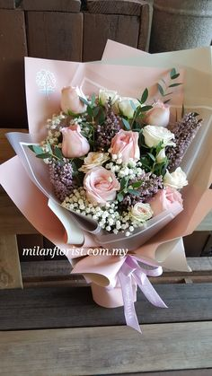 For YOU my beautiful friend! With love, hugs and blessings. Gift Bouquet, Hand Bouquet, Pretty Flowers, Silk Flowers, Beautiful Roses, Beautiful Friend, Flower Packaging, Bloom Blossom, Valentines Flowers