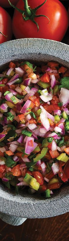 Healthy recipe for homemade, fresh tomato salsa.
