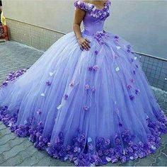 Lilac bridal gown
