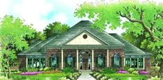 Traditional Plan: 3,372 Square Feet, 4 Bedrooms, 4 Bathrooms - 048-00199