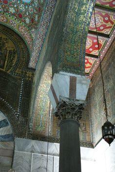 Inside the Umayyad Mosque, Damascus.