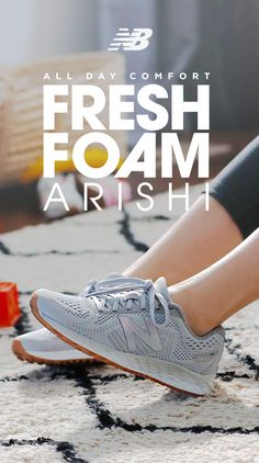 A pair of shoes that can keep up with you— from morning chaos to late-night relaxation. The Fresh Foam Arishi from New Balance has comfort and style for all-day, every day. Available now at New Balance and other shoe retailers near you. Neutral Running Shoes, Walk This Way, Stunning Women, Stephen Curry, The Fresh, Workout Gear, Swagg, Fashion Boots, Shoes