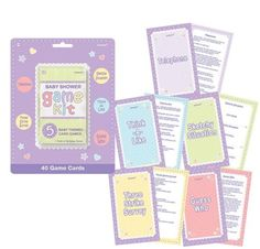 baby shower games babies forward baby shower game kit 5pc party city