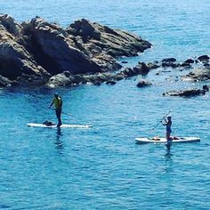 Stand up paddling at the donkey islands #halkidiki #greece #exploretheoutside #sup