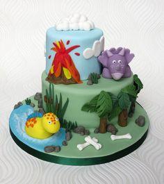Dinosaur Cake by pambakescakes