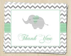 Hey, I found this really awesome Etsy listing at https://www.etsy.com/listing/173794346/elephant-baby-shower-birthday-thank-you