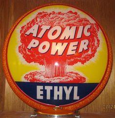 Atomic Power Ethyl Gas Pump Globe