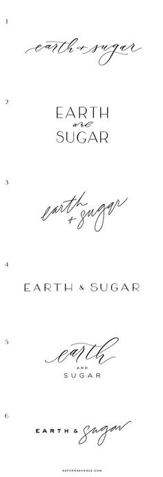 Modern Brand and Website Design for Earth & Sugar - Saffron Avenue : Saffron Avenue