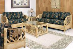 wicker furniture for living room Rattan Furniture Set, Living Room Furniture, Furniture Sets, 5 Piece Living Room Set, Living Room Sets, Tropical Home Decor, Modern House Design, Home Furnishings, Luxury Living