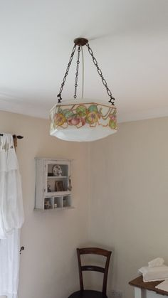 Vintage Light Shade. Cottage is endowed with items such as this.