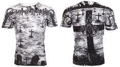 Archaic AFFLICTION Mens T-Shirt CRYPT KEEPER Cross Tattoo Biker UFC M-3XL $40 c #Affliction #GraphicTee