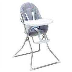 La chaise haute de bébé  Chaise haute STAR gris