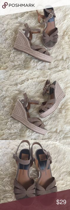 """Dolce vita Suede Wedges Dolce Vita Suede Wedges.  4"""" heel with 1"""" platform.  Size 9.5.  Used only couple of times.  Pet/smoke free home Dolce Vita Shoes Wedges"""