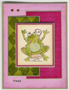 SC92 Speckled Frog by stacy cranston - Cards and Paper Crafts at Splitcoaststampers