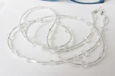 Brillenkette mit  Glasperlen-Mix in transparent von soschoen auf DaWanda.com