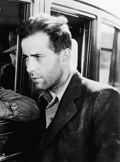 humphrey bogart, 1936, on the set of the petrified forest