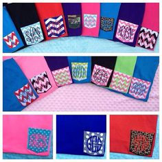 Monogrammed Pocket Tees by Purpleplumboutique1 on Etsy, $17.00