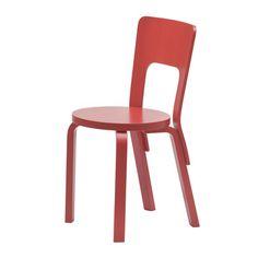 Artek 66 Grey High Back Chair by Alvar Aalto Alvar Aalto, Cafe Chairs, Dining Chairs, Lounge Chairs, Dining Room, Cool Furniture, Furniture Design, How To Bend Wood, Meme Design