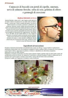 """La Ricetta di oggi 30/01 dall'archivio di Ricette 3.0 di spaghettitaliani.com - Le Ricette 3.0 - Carpaccio di baccalà con petali di cipolla, smetana, uova di salmone fresche, salsa di soia, gelatina di alloro e germogli di crescione ( Secondi - Pesce ) inserita da Andrea Dolciotti - La ricetta si trova anche nel Libro """"Una Ricetta al Giorno... ...leva il medico di torno"""" prodotto dall'Associazione Spaghettitaliani, per acquistarlo: http://www.spaghettitaliani.com/Ricette2013/PrenotaLibro.php"""