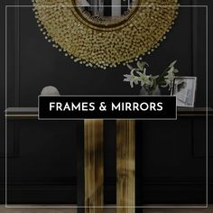 Our decorative frames and mirrors come in a variety of styles, shapes and sizes. By giving the illusion of space, mirrors can help your apartment seem bigger, or they can simply add a touch of opulence to a room.  And, when it comes to truly creating a space that reflects who you are, focus on the small details like wooden, brass, glass or mirrored frames, and unique art prints.  Browse our full range of mirrors, art and frames.  #Homeware #decorstyle #interiordesign Decorative Frames, Unique Art, Decor Styles, Illusions, Mirrors, Things To Come, Range, Brass, Touch