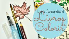 Livros de Colorir - Lápis Aquarelável