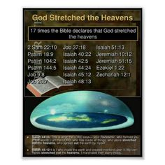 Bible Flat Earth Poster - create your own personalize