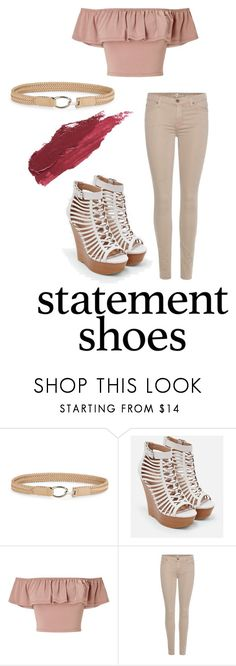 """""""I Feel Like Making A Statement"""" by smokeybill ❤ liked on Polyvore featuring Fashion Focus, JustFab, Miss Selfridge, 7 For All Mankind and Lily Lolo"""