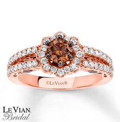 Chocolate diamonds in rose gold