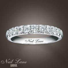 Perfect wedding band . neil lane- kay.com