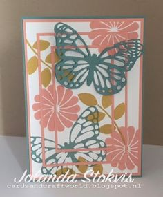 My Card and Craftworld, Crazy about you, butterflies thinlits.
