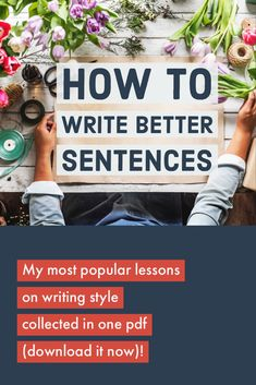 "Get this and read it! The three lessons on the ""cumulative"" sentence are exceptional. Cool Writing, Creative Writing, Writing Tips, Book Outline, Copy Editing, Grammar Tips, Good Sentences, Writing Styles, Teaching Writing"