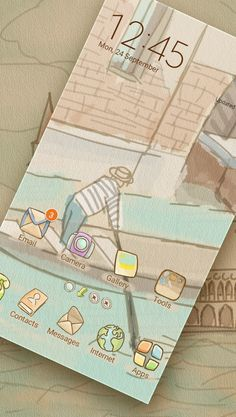 Take a trip to beautiful #Venice by customizing your #icons with this lovely #theme. Every time you use your #gadget you will discover a little bit of this #amazing city. Have a wonderful journey!