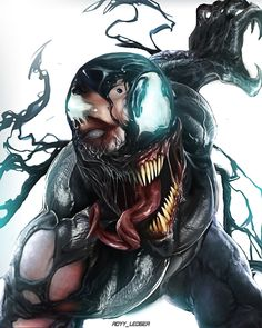 It strikes me as a great book end that both Venom and Spidey display similiar damage patterns Venom Comics, Marvel Venom, Marvel Villains, Marvel Comics Art, Marvel Characters, Marvel Heroes, Spiderman Art, Amazing Spiderman, Marvel Drawings