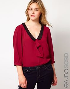 ASOS CURVE Exclusive Blouse With Pussybow
