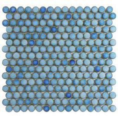 Penny Round 12-1/4 in. x 12 in. Marine Porcelain Mesh-Mounted Mosaic Tile Home depot $6.95 sq ft