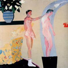 monsieurlabette:  David Hockney - Domestic Scene - 1963