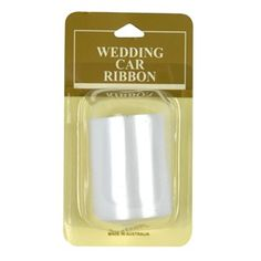 Ribbon Wedding Car White 6m Ea | Party Supply | Paper Party Supplies and Goods Melbourne