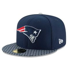 62cad34c46df8 New England Patriots New Era Youth 2017 Sideline Official Fitted Hat - Navy