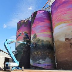 Drapl (Travis Vinson) and The Zookeeper (Joel Fergie) are street art veterans, but say the burgeoning silo art scene might soon need its own moniker.