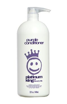 Toning conditioner for blondes and brassy hair .great for deep penetrating and toning . Gray Hair Highlights, Brassy Hair, Purple Shampoo, Vodka Bottle, Bleach, Conditioner, Personal Care, Blondes, Hairstyles
