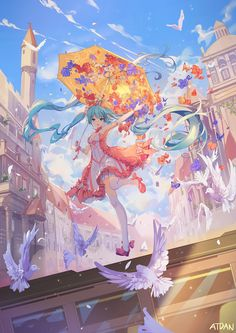 Browse VOCALOID Hatsune Miku collected by Marco Barahona and make your own Anime album. Art Anime, Chica Anime Manga, Anime Art Girl, Manga Girl, Anime Girls, Hatsune Miku Vocaloid, Kaai Yuki, Fille Anime Cool, Fantasy Anime