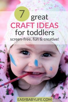 7 Great Toddler Craft Ideas – Screen-Free, Fun and Creative! Parenting Toddlers, Good Parenting, Parenting Hacks, Toddler Fun, Toddler Gifts, Toddler Learning, Indoor Activities For Toddlers, Preschool Activities, Breastfeeding Support