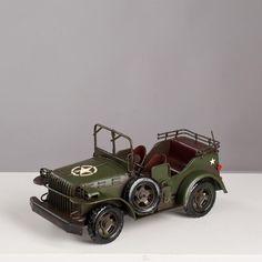 Miniatura Jeep Militar - Machine Cult - Kustom Shop   A loja das camisetas de carro e moto