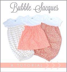 Tutoria: Baby Sacques onsie dresses and sleep sacks