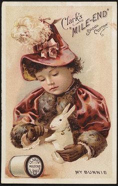 Clark's 'mile-end' spool cotton, my bunnie. [front]   Flickr - Photo Sharing!
